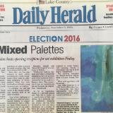Daily Herald 2016 Mixed Palettes 3 person Show