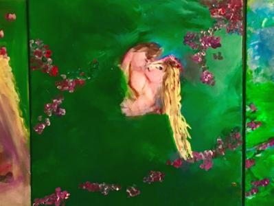 Triptych-Mermaid Eternal Love
