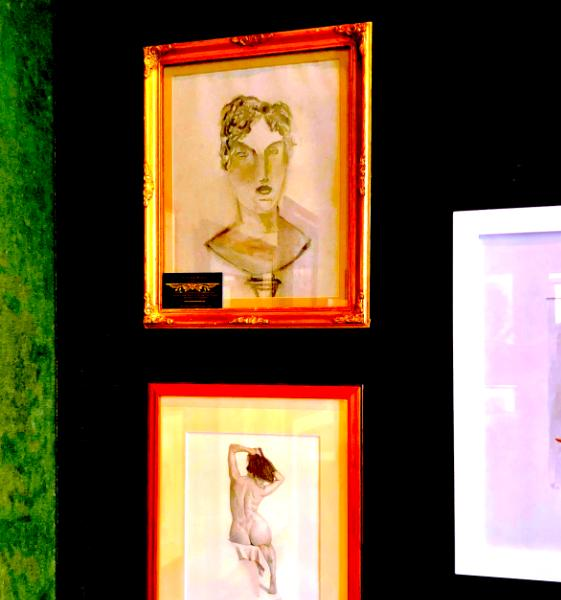Bust of a Woman- Palette and Chisel -Drawing Exhibit 2019