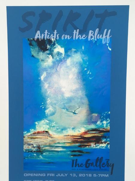 Spirit Poster- Spirit Messenger- 2018 chosen for poster image- Artists on the Bluff Gallery