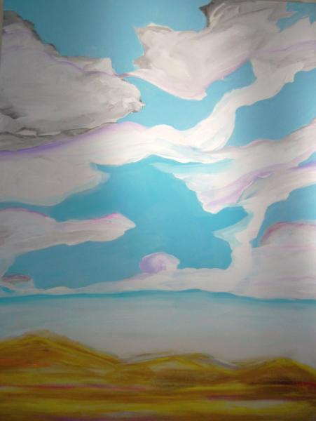 Swirls of clouds
