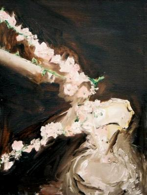 Apple Blossoms in Vase-SOLD