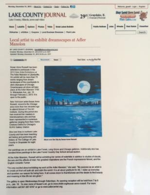 Lake County Journal  2012.Moon over city- Dreamscapes