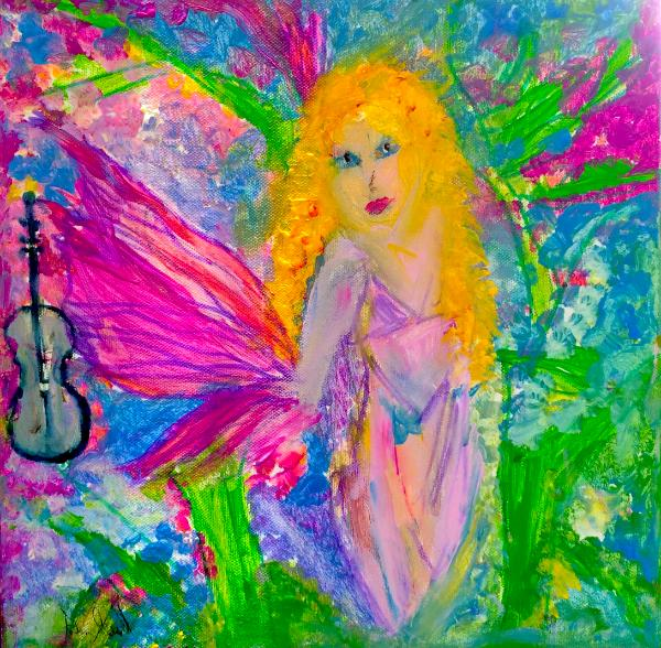 Fairy yearns for her violin