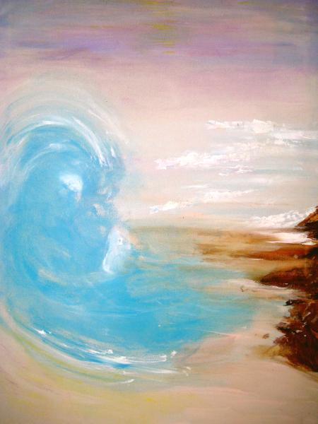 wave meets shore