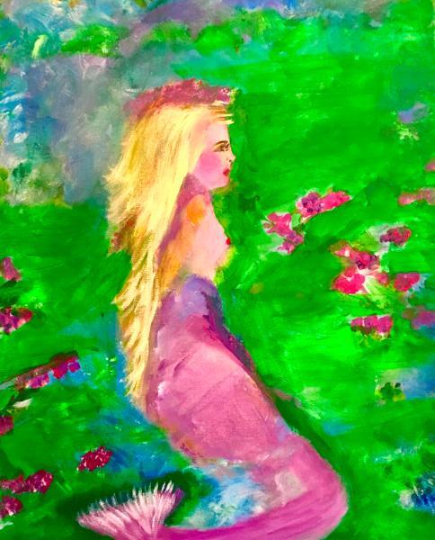 Mermaid Lost in Garden