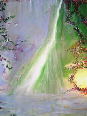 Large Waterfall with Vines SOLD