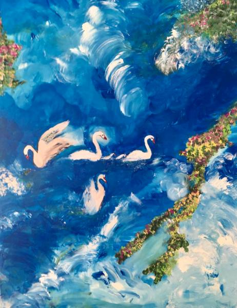 Swans in tranquility